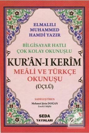 Seda Yayınları Kuranı Kerim Meali Ve Türkçe Okunuşlu Rahle Boy Bilgisayar Hatlı Üçlü Kod.004 3