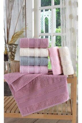Zeynep Tekstil Stars Antibakteriyel  El&Yüz Havlu Seti 6'lı 50x90 cm 1
