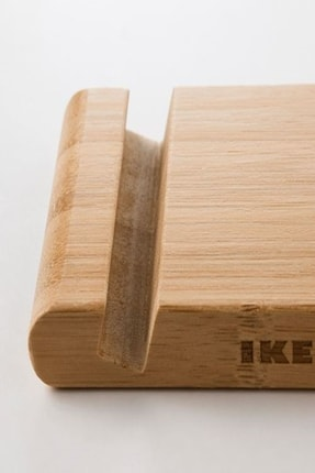 IKEA Bambu Bergenes Ahşap Cep Telefonu Tablet Tutucu Stand 4
