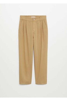 Mango Kadın Kum Bej Pantolon 2