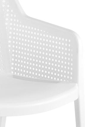 Tilia Beyaz Octa Puantiye Desenli Koltuk 4 Adet 3