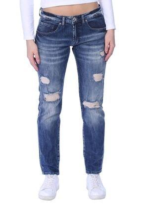 Jeans Trend Kadın Jean Pantolon Dizi Yırtık Model TXCB428FE7263