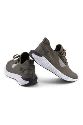 AKX 7 132 Haki Beyaz Hava Akışlı Erkek Spor Ayakkabı 1