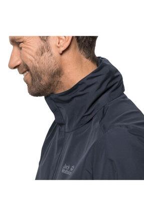 Jack Wolfskin Erkek Lacivert Stormy Point Jacket Outdoor Ceketi M 3