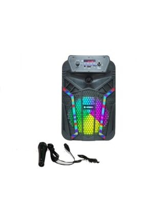 Platoon Pl-4435 Bluetooth Speaker Hoparlör Karaoke Mic. Usb/sd 0