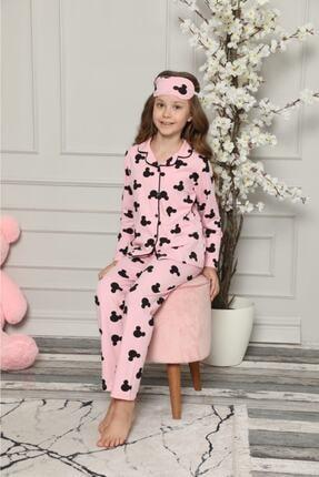 ASEL PİJAMALARI Mickey Desenli Pijama Takımı - Kız Çocuk 1