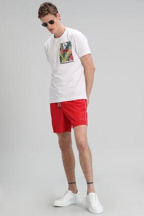 Lufian Monato Modern Grafik T- Shirt Beyaz 1