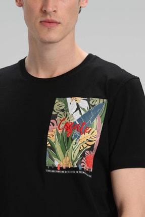 Lufian Monato Modern Grafik T- Shirt Siyah 4
