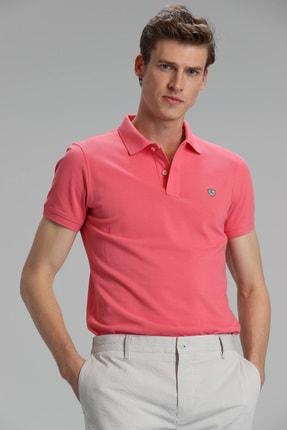 Lufian Laon Spor Polo T- Shirt Koyu Pembe 2