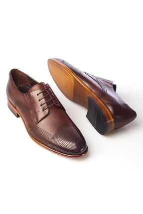 MARCOMEN Kahve Baskılı Hakiki Deri Bağcıklı Erkek Klasik Ayakkabı • A19eymcm0020 3