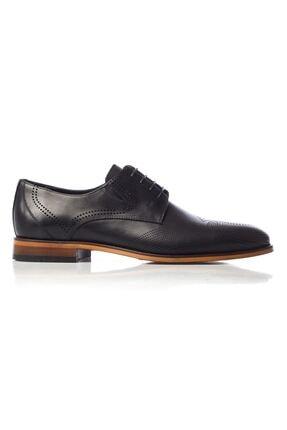 MARCOMEN Siyah Baskılı Hakiki Deri Bağcıklı Erkek Klasik Ayakkabı • A19eymcm0020 0