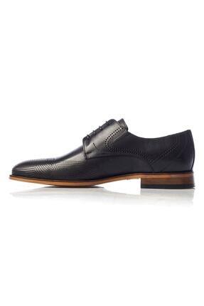 MARCOMEN Siyah Baskılı Hakiki Deri Bağcıklı Erkek Klasik Ayakkabı • A19eymcm0020 2