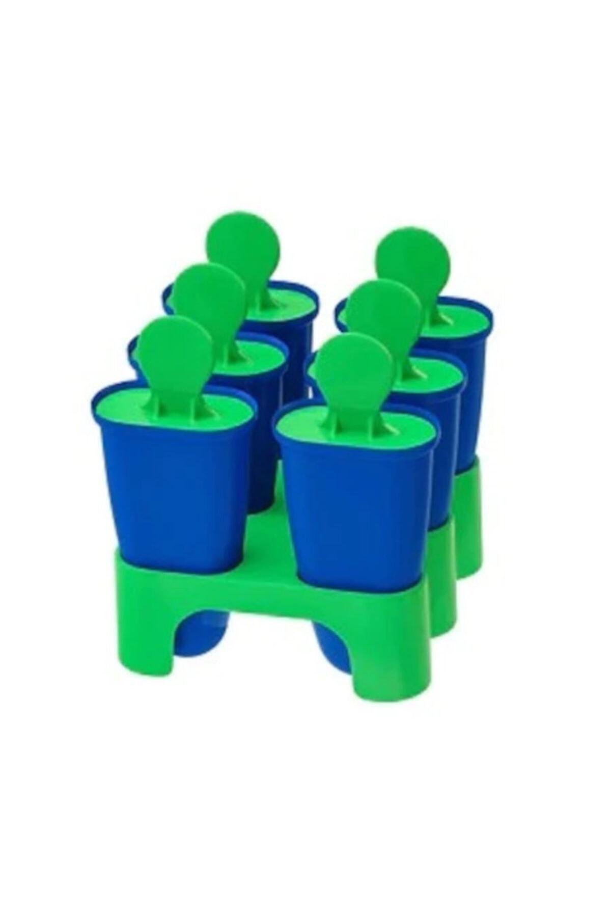 Dondurma Kalıbı Meridyendukkan 6lı 10 Cm Mavi-yeşil Renk