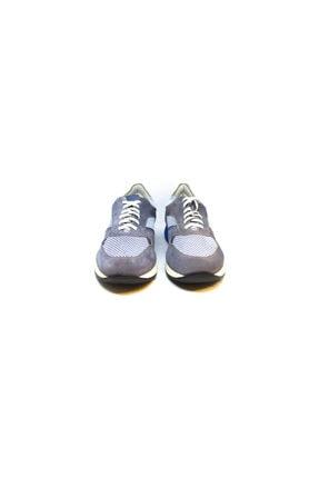 ALBERTO GUARDIANI Erkek Gri Hakiki Deri Bağcıklı Sneaker 4