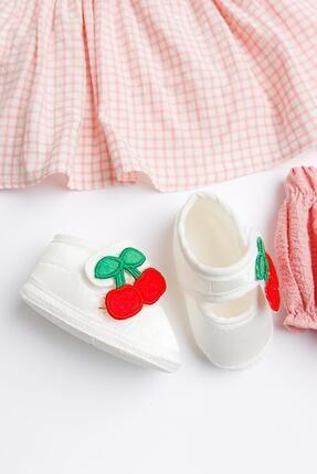 Babymod Kiraz Işlemeli Kız Bebek Elbise Takımı 2
