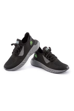 AKX 7 132 Siyah Füme Yeşil Hava Akışlı Erkek Spor Ayakkabı 1
