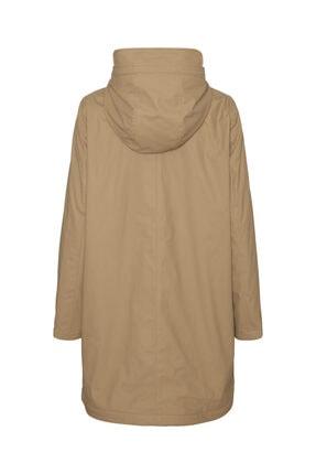 Vero Moda Kadın Bej Kapüşonlu Polarlı Yağmurluk Mont 10238956 1