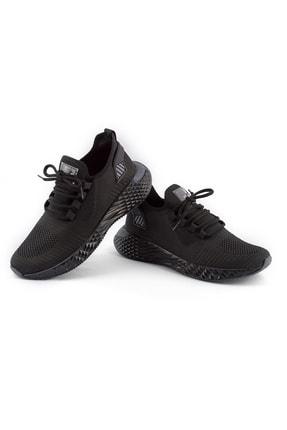 AKX 7 132 Siyah Siyah Hava Akışlı Erkek Spor Ayakkabı 0