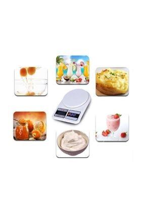 Safka Dijital Hassas 10 Kg Mutfak Terazisi Tartısı Lcd Ekranlı 1