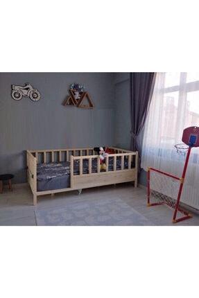 Baby Kinder Kahverengi Roofless Montessori Bebek ve Çocuk Karyolası 1