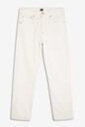GAP Kadın Beyaz Yüksek Belli Straight-fit Jean Pantolon 0