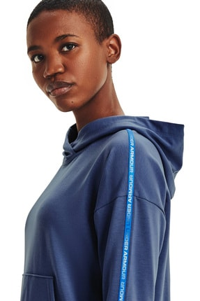 Under Armour Kadın Spor Sweatshirt - UA Rival Terry Taped Hoodie - 1360904-470 3