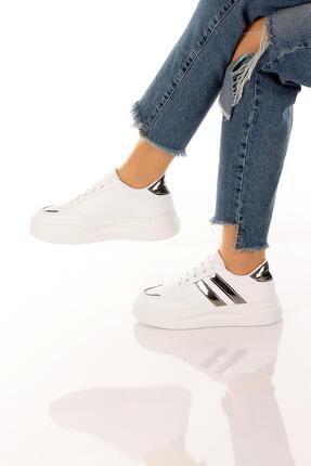 SOBY SHOES Kadın Günlük Rahat Ve Şık Bağcıklı Spor Ayakkabı Sneaker Soby11020031 4