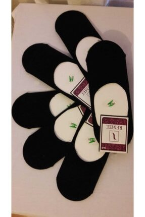 6'li Unisex Bambu Slikonlu Kaymaz Babet Çoraplar KY001201203345