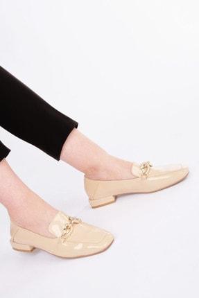 Marjin Kadın Bej Rugan Loafer Ayakkabı Alva 0