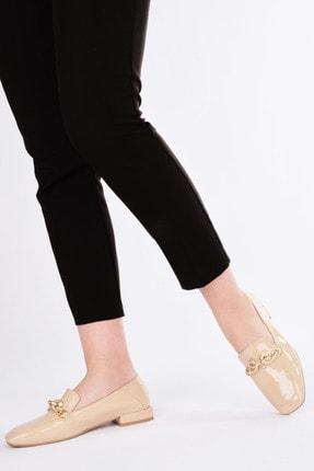 Marjin Kadın Bej Rugan Loafer Ayakkabı Alva 4