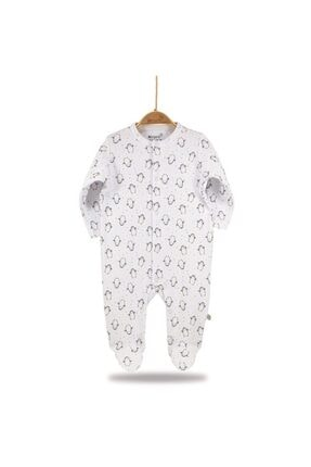 Erkek Bebek Organik Tulum Best Friends Rotasyon Beyaz resmi
