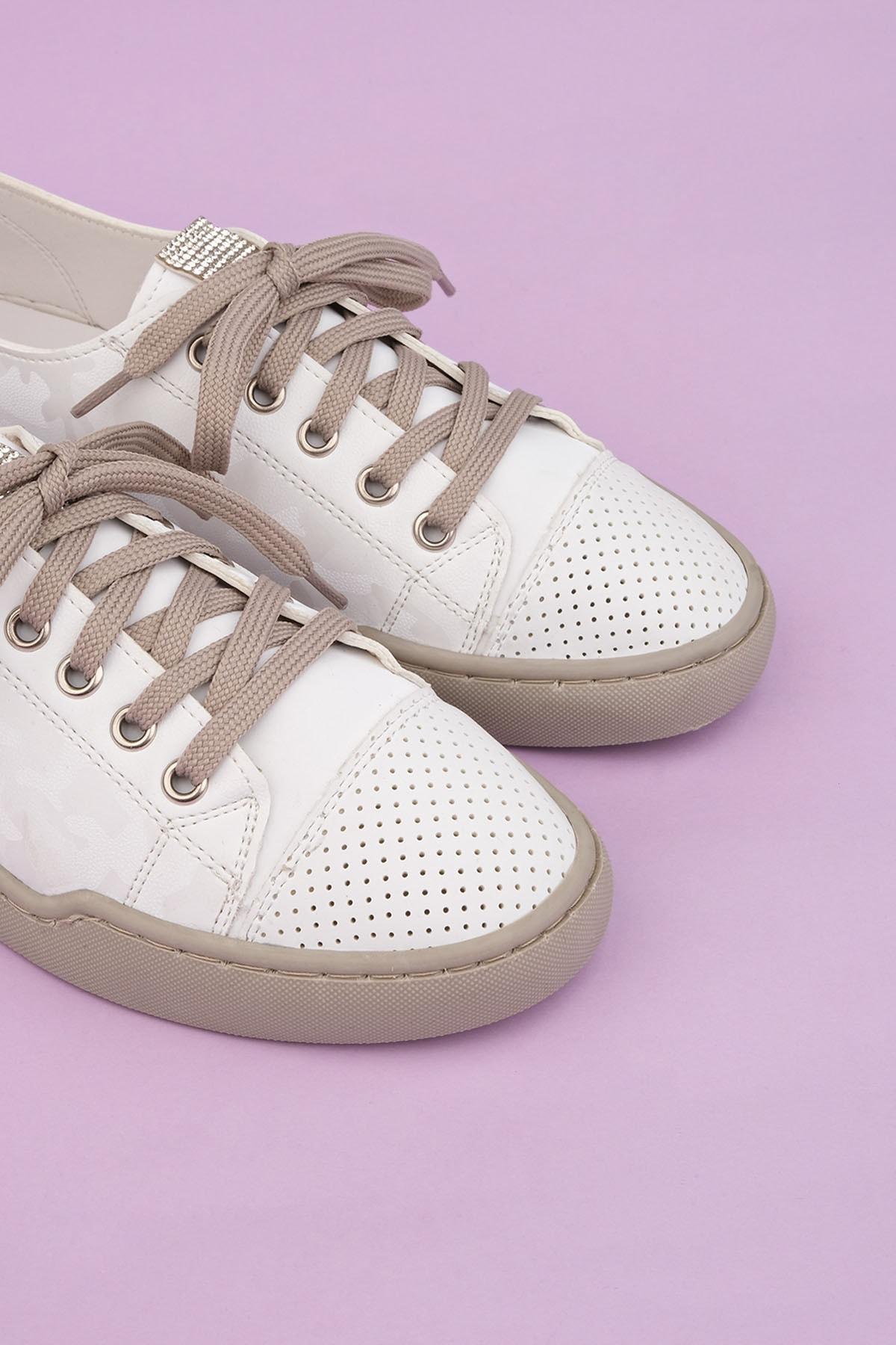 Marjin Kadın Beyaz Sneaker Spor Ayakkabı Range 2