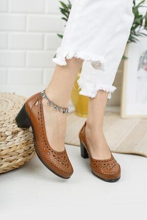 Diego Carlotti Hakiki Deri Kadın Günlük Klasik Topuklu Ayakkabı 1