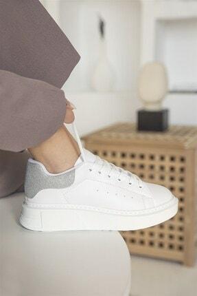 Straswans Kadın Beyaz Gümüş Huws Sim Detay Spor Ayakkabı 2