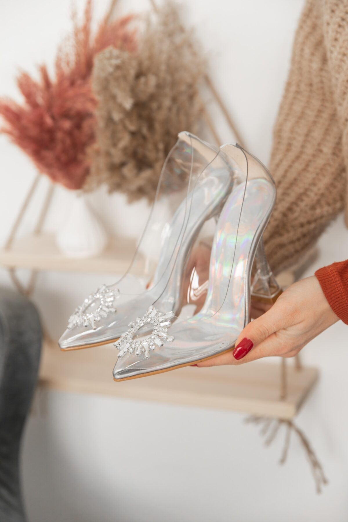 Emma Hologram Kadın Topuklu Ayakkabı