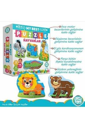 Circle Toys My Best Puzzle Hayvanlar+araçlar Ikili Set 1