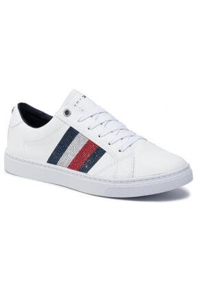 Tommy Hilfiger Kadın Crystal Leather Casual Sneaker Fw0fw04299 100 1