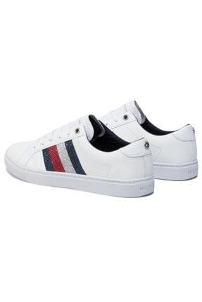 Tommy Hilfiger Kadın Crystal Leather Casual Sneaker Fw0fw04299 100 3