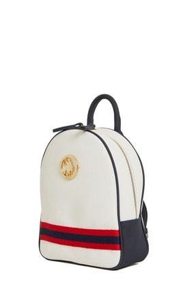 US Polo Assn Beyaz-lacıvert Kadın Sırt Çantası Us8218 2