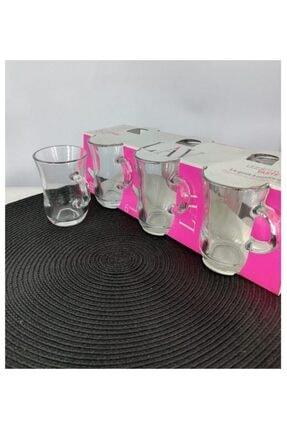 Lav Yudum 6 Parça Kulplu Çay Bardağı 0