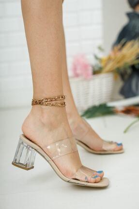 meyra moda Şeffaf Bant Ve Topuk Detay Topuklu Ayakkabı 2