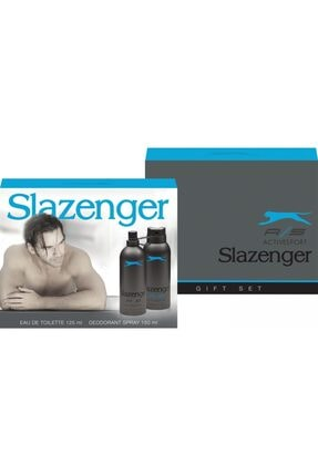 Slazenger Active Sport Mavi 125 ml Erkek Parfüm ve 150 ml Deodorant Set 0
