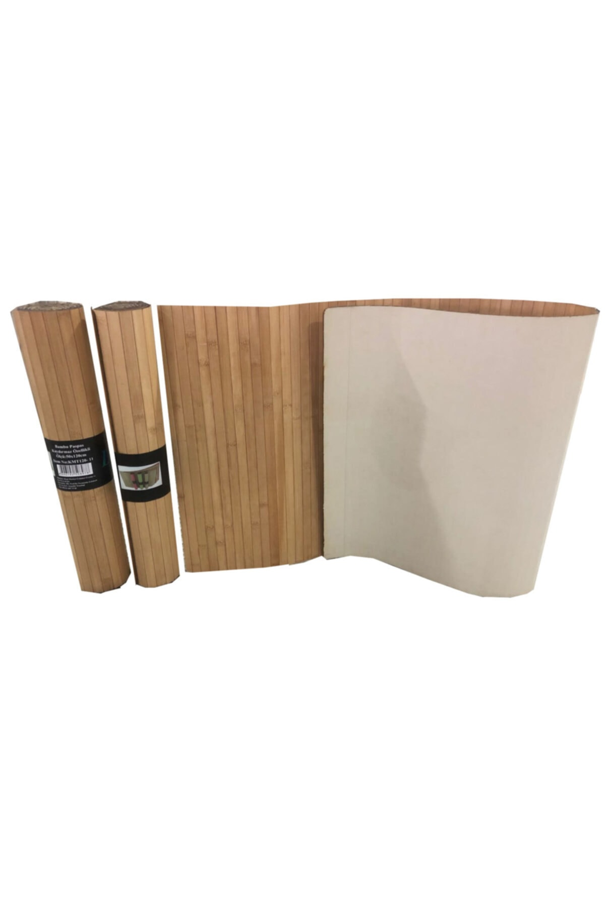 Lorin Bambu Kaydırmaz Tabanlı Paspas Banyo Kapı Önü Ve Çok Amaçlı 50x120 cm