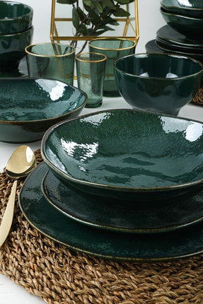 Keramika Zümrüt Yemek Takımı 24 Parça 6 Kişilik 1