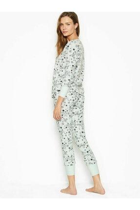 Victoria's Secret Kadın Beyaz Termal Uzun Pijama Takımı 1