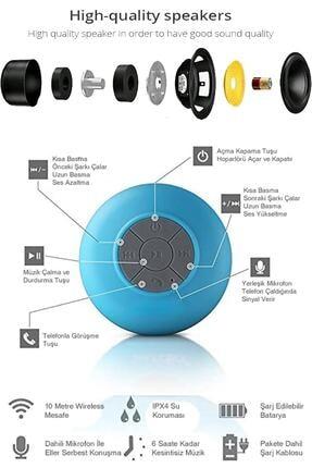 Urban Sound Bluetooth Hoparlör Ses Bombası Eller Serbest Konuşma Duş Tipi, Suya Dayanıklı Pembe D-195 1