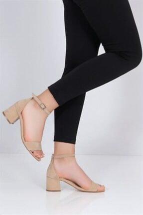 Vizon Süet Kadın Klasik Topuklu Ayakkabı klasik topuklu ayakkabı 000027