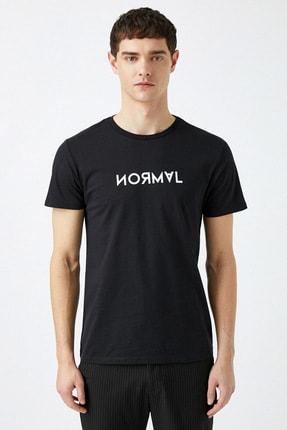 Koton Erkek Siyah T-Shirt 1YAM11427CK 2