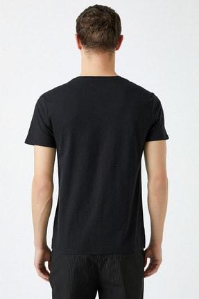 Koton Erkek Siyah T-Shirt 1YAM11427CK 3