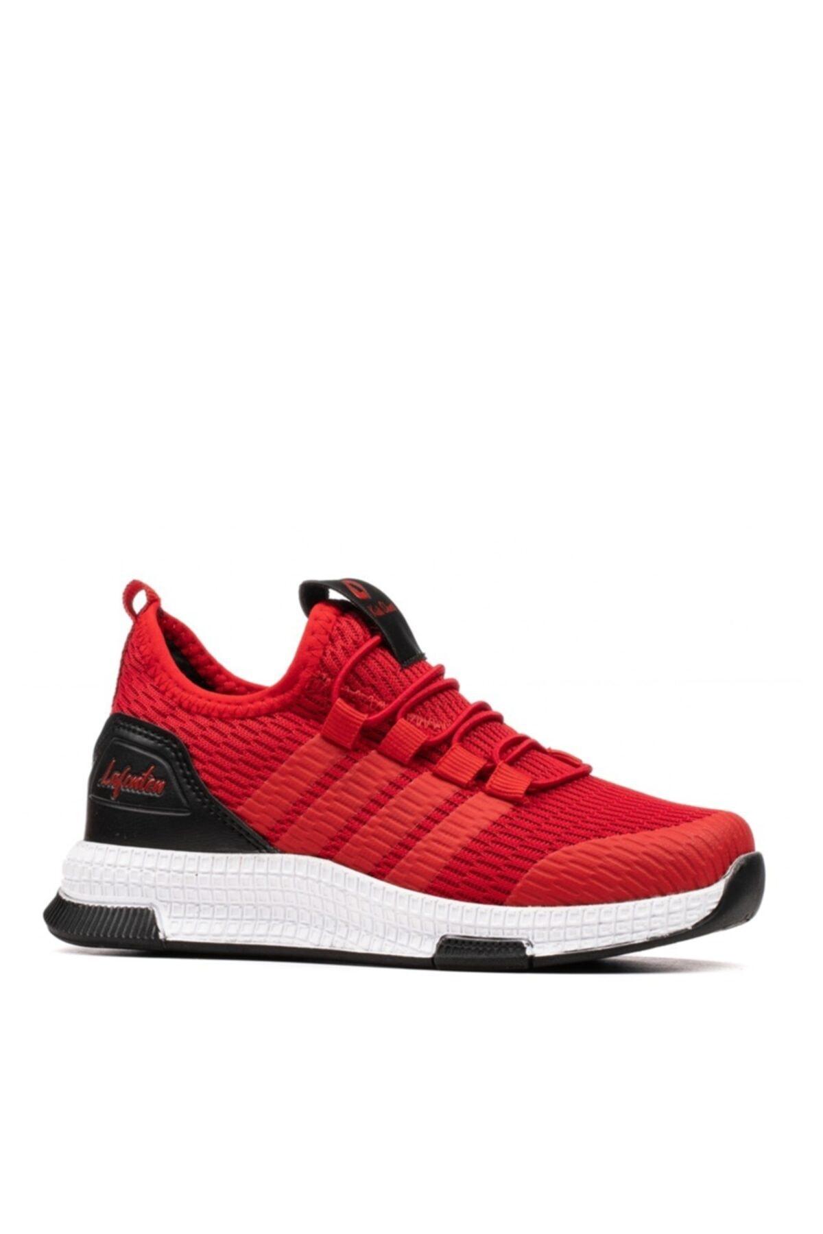 Unisex Çocuk Kırmızı Siyah Spor Ayakkabı